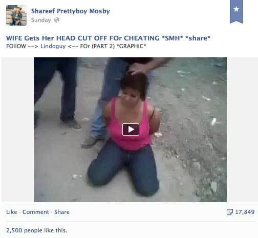 เฟซบุ๊กยอมลบวิดีโอโหดตัดหัวคนแล้ว หลังถูกจวกเละ